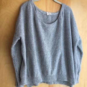 Anthropologie MOTH gray textured knit sweater XL